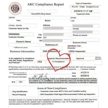 AKC Compliance Report Image