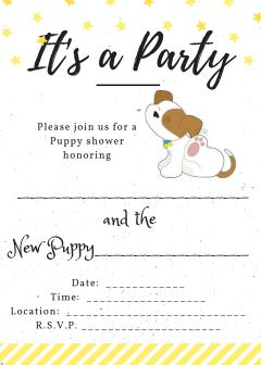 Puppy Shower Invitation:  Link to a pdf copy of it.