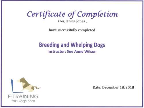 Breeding and Whelping Dogs