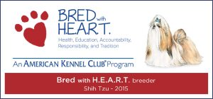 Proud Participants in AKC's Bred with H.E.A.R.T. Program