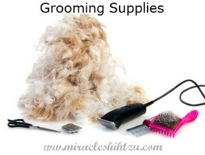 Grooming supplies for your Shih Tzu